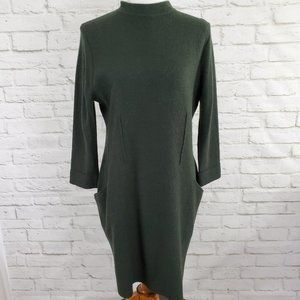 Sparrow Anthropologie Boiled Wool Sweater Dress  L